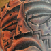 Tattoos - Mayan Ruins Mayan God Tattoo - 69988